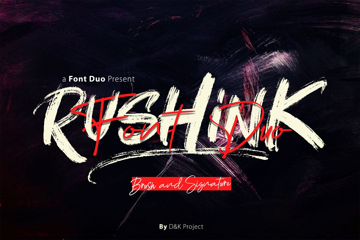 Rushink Font Duo | Brush & Signature example image 1
