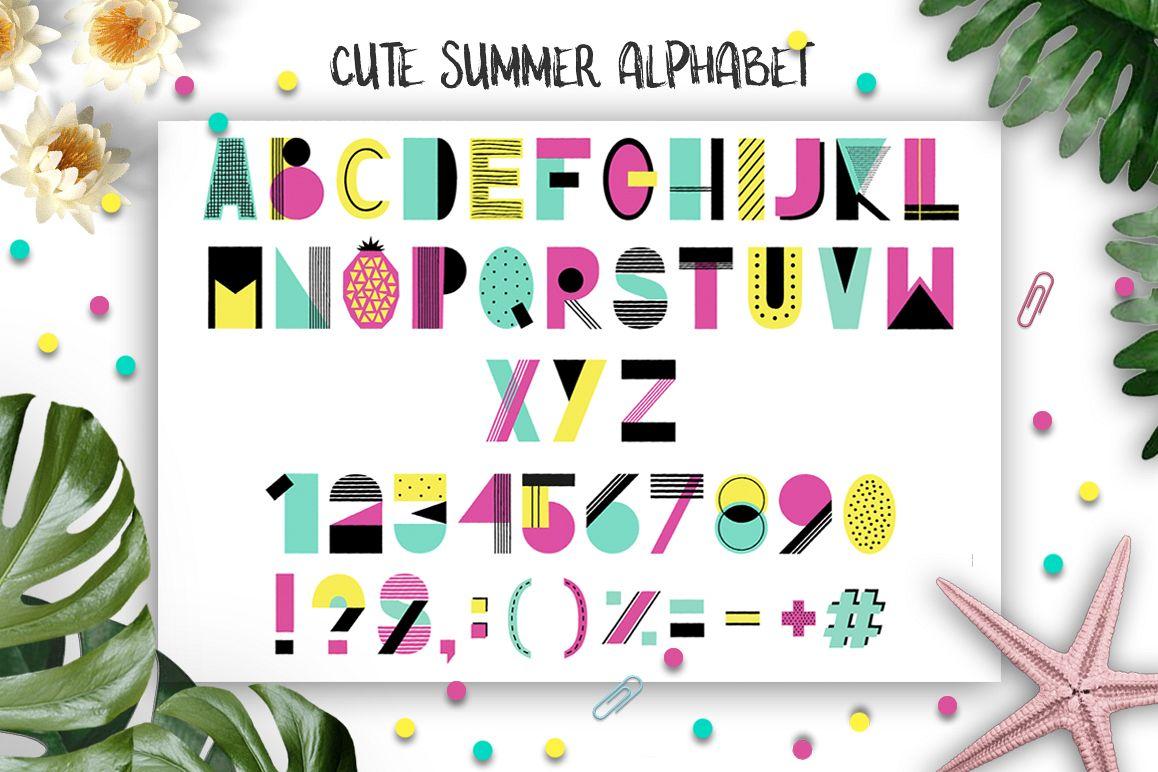 Cute Summer Alphabet example image 1