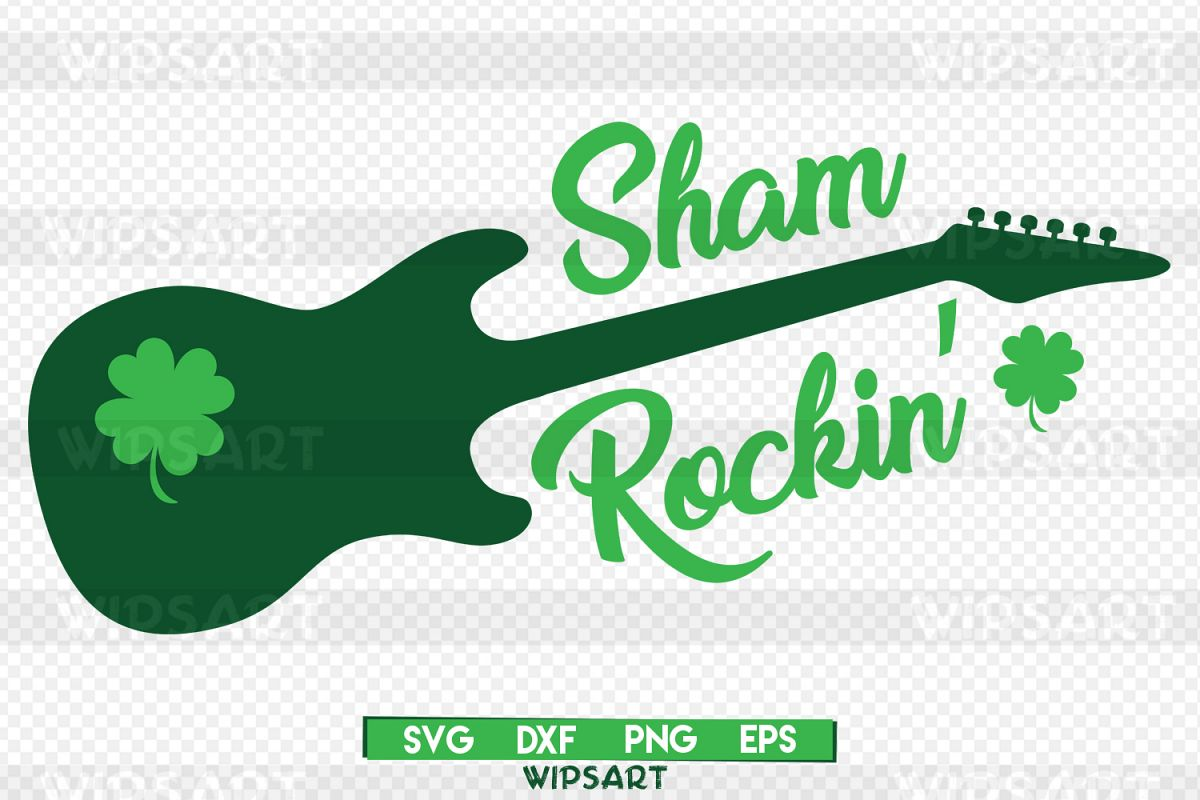 SALE! Sham rockin svg, saint patricks day svg, shamrock png example image 1