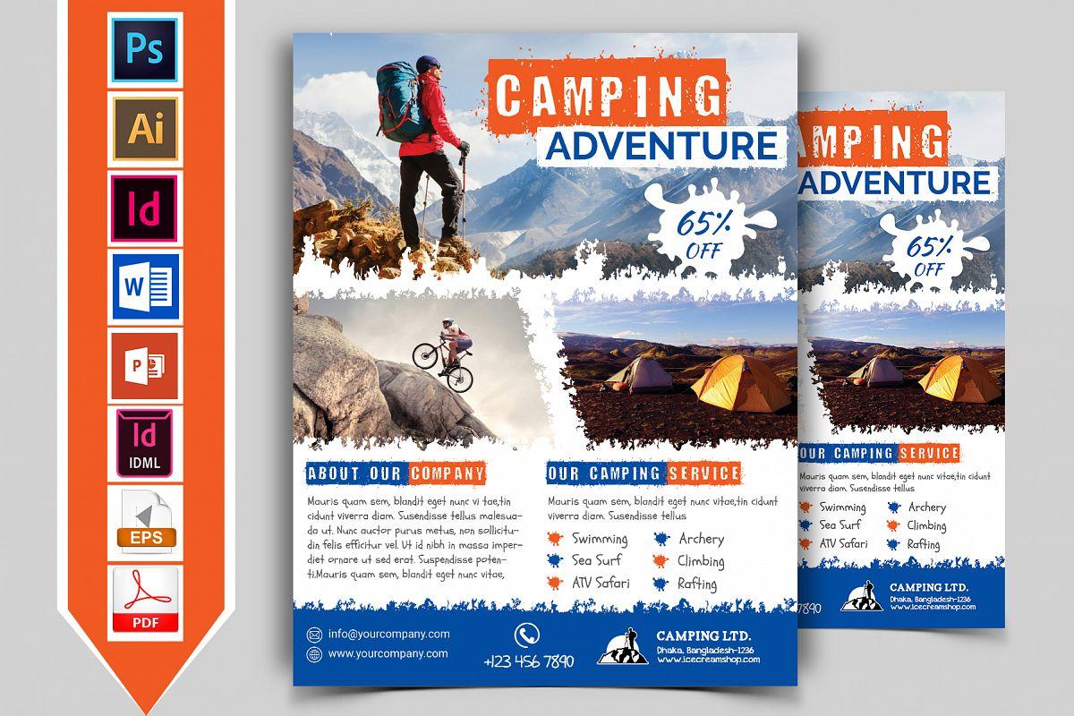 Camping Adventure Flyer Vol-02 example image 1