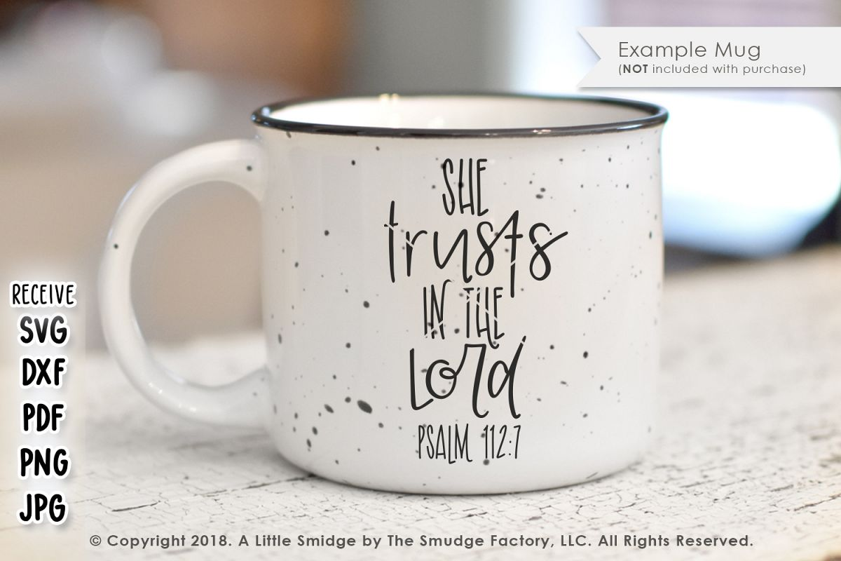 She Trusts In The Lord SVG example image 1