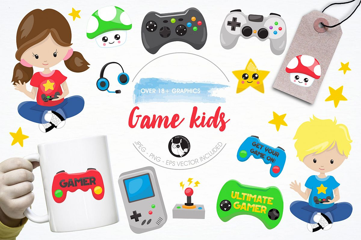 Game kids graphics and illustrations example image 1