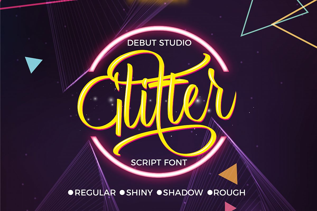 Glitter Script Font (30% Off) example image 1