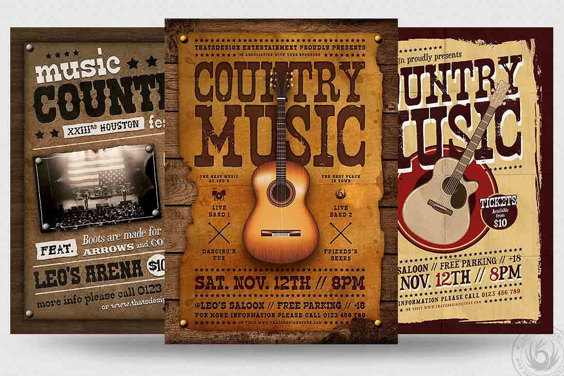 Country Music Flyer Bundle V2 example image 1