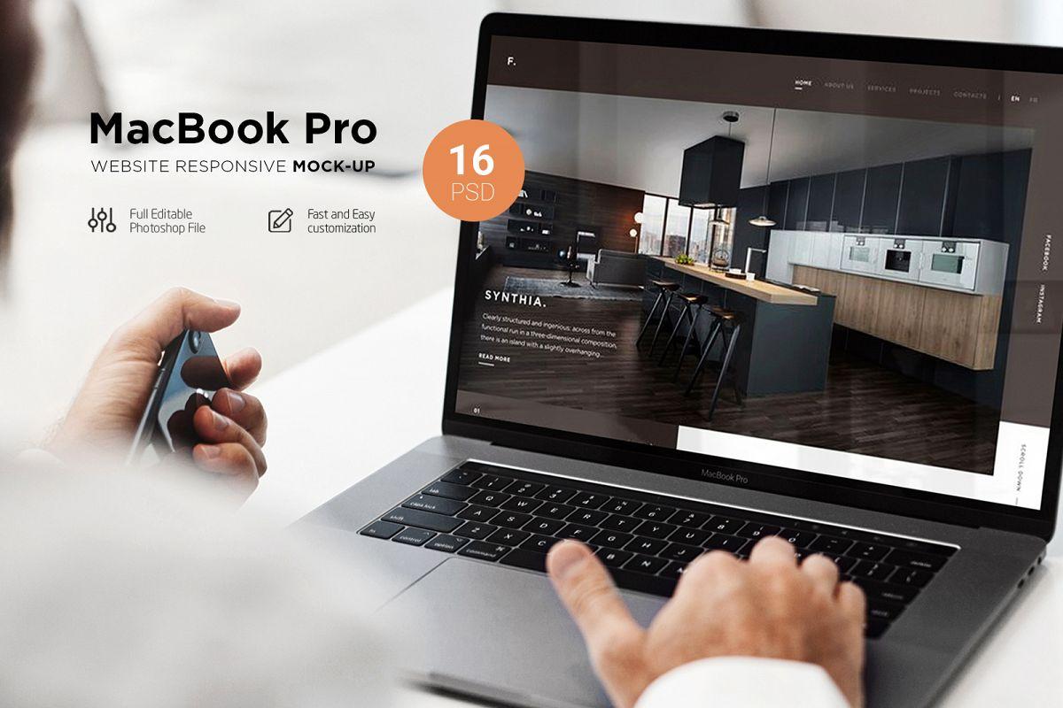 MacBook Pro Responsive Mock-Up example image 1