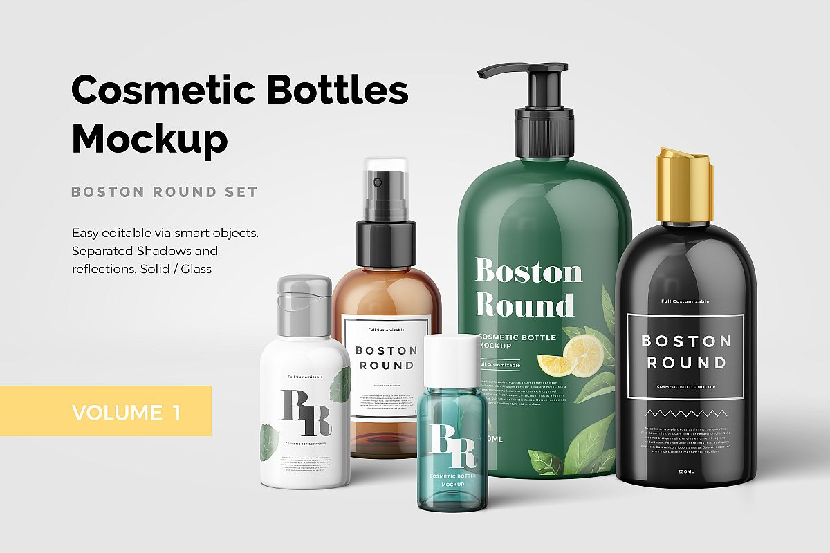 Cosmetic Bottles Mockup Vol.1 example image 1