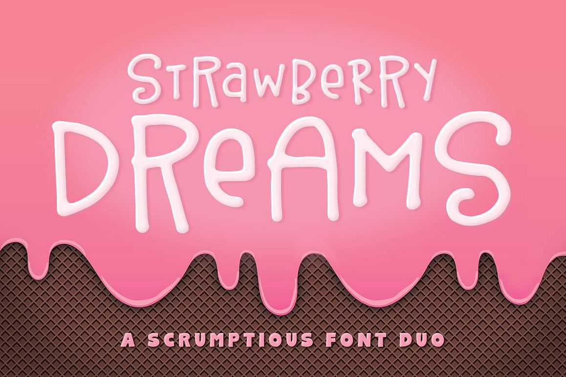 Strawberry Dreams Font Duo example image 1