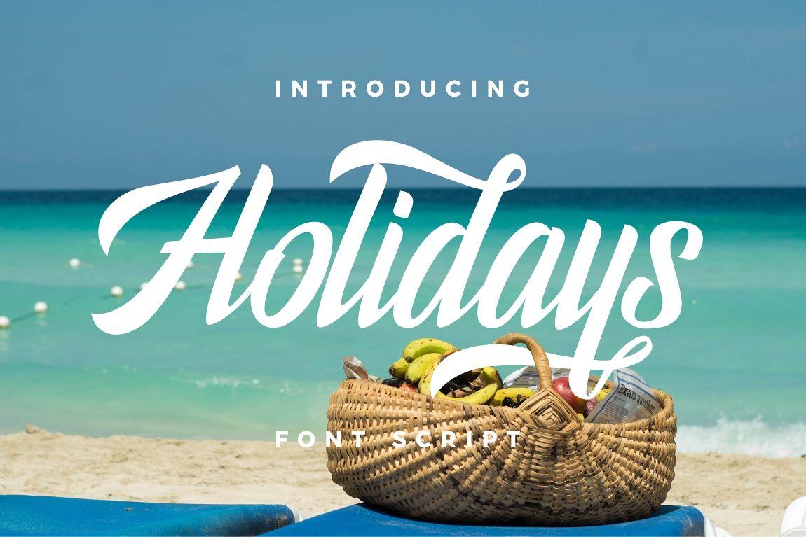 Holidays Typeface example image 1