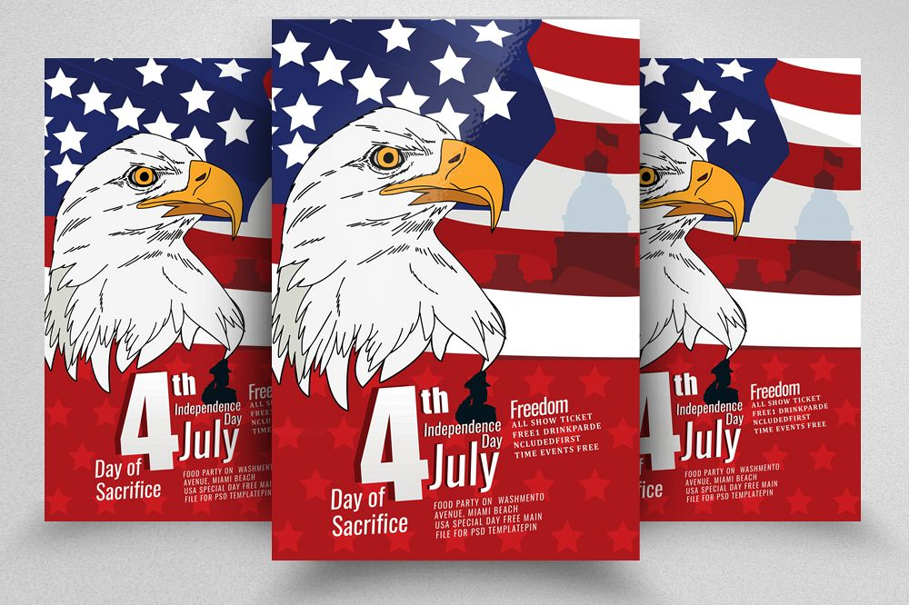 4th of July Celebration Day Flyer example image 1