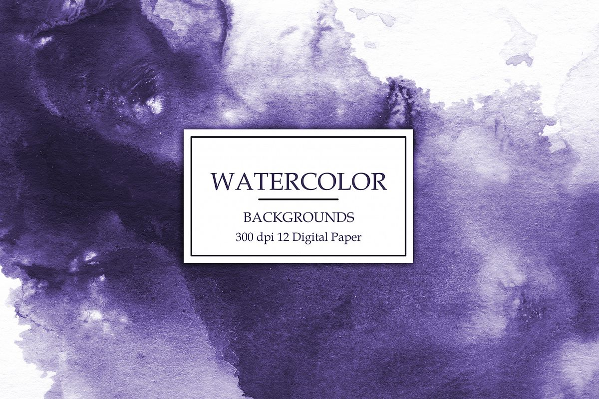 Purple Watercolor Backgrounds example image 1