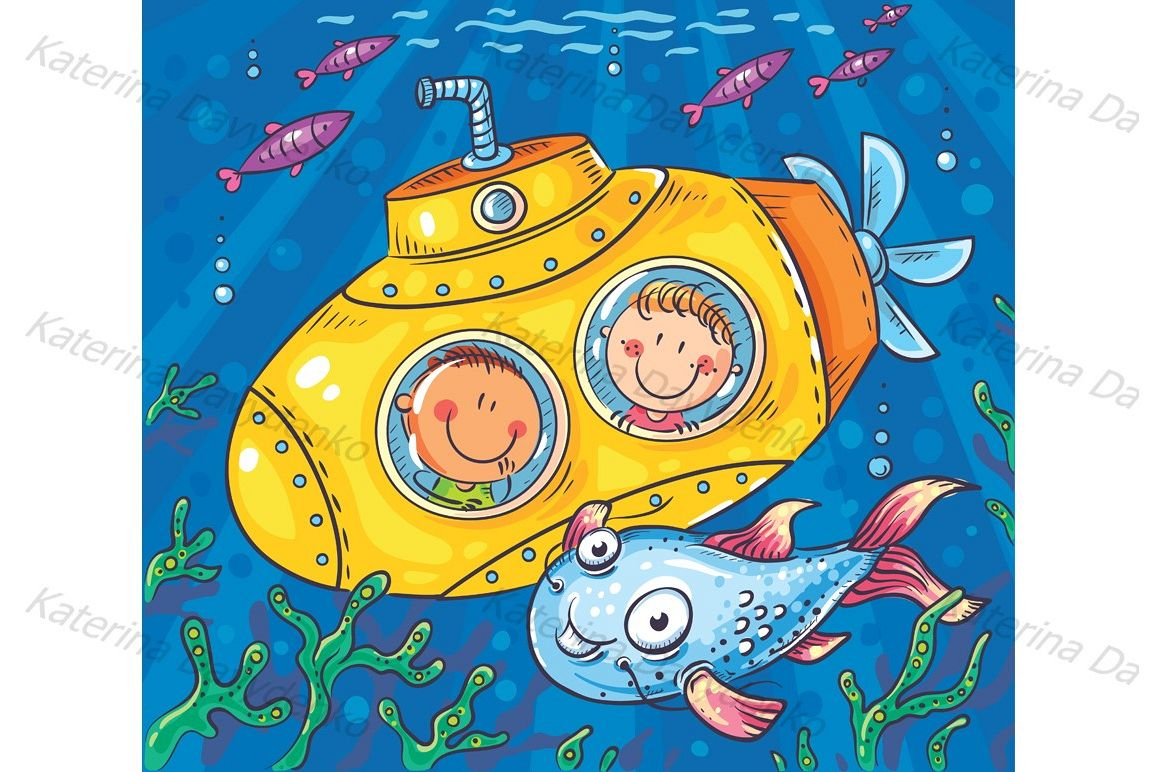 Children in a submarine example image 1