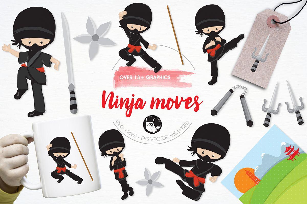 ninja moves graphics and illustrations design bundles
