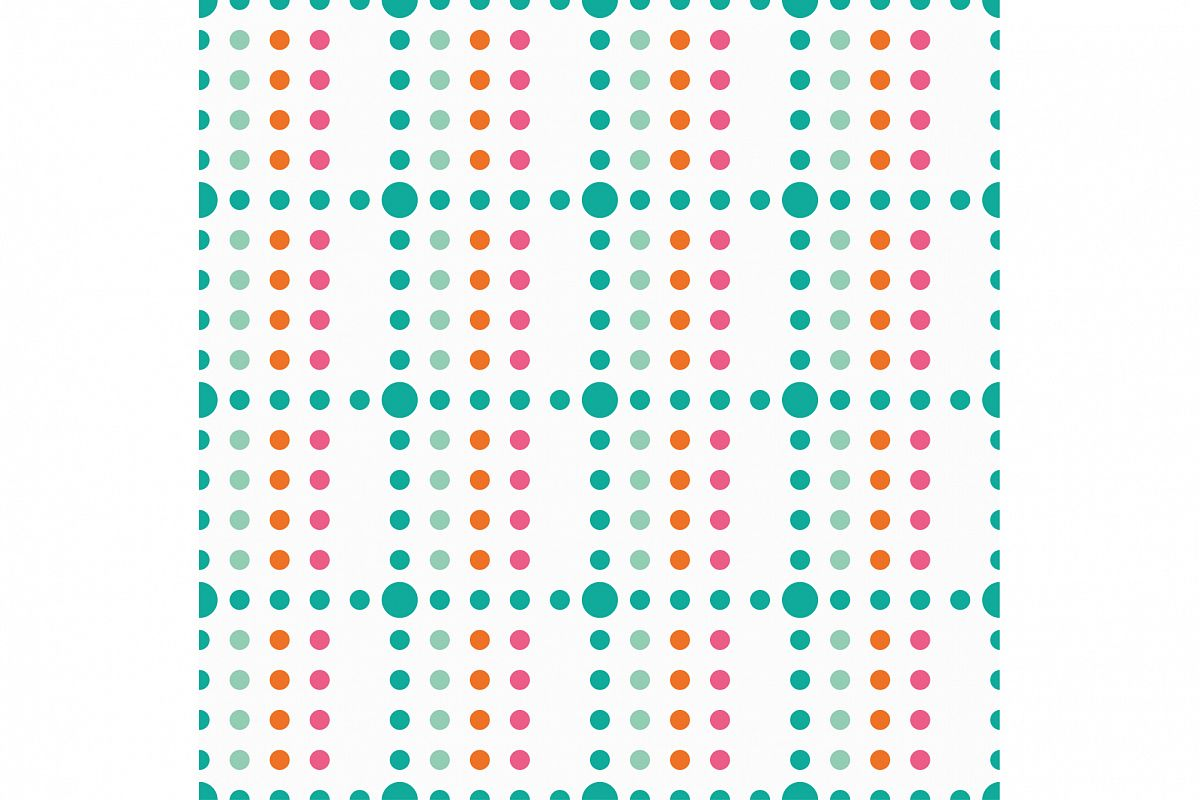 Seamless vector decorative background with polka dots.  example image 1