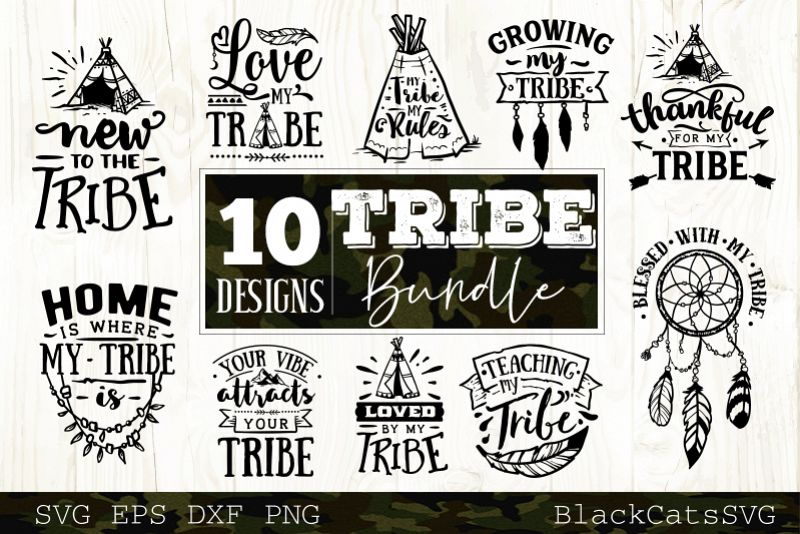 Tribe bundle SVG 10 designs Wild SVG bundle vol 4 example image 1