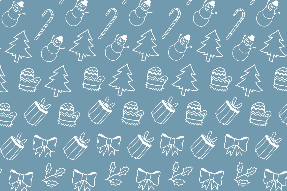 Christmas elements hand drawing pattern example image 1