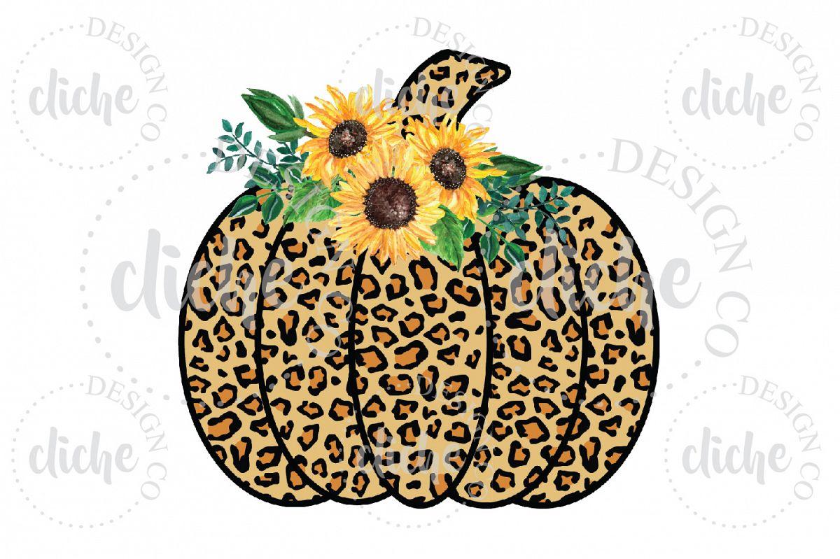 Leopard Pumpkin Sublimation Design example image 1