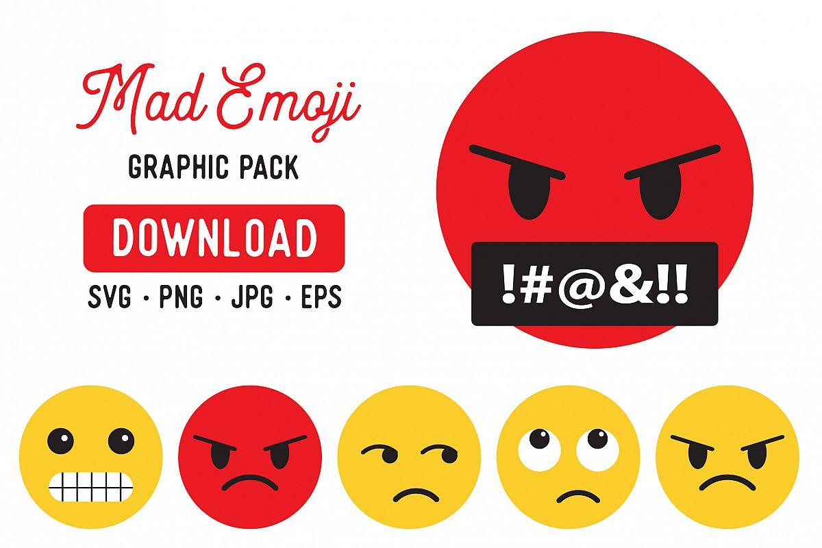 Angry Emoji PNG Clipart Pack - Emoji Graphic Bundle