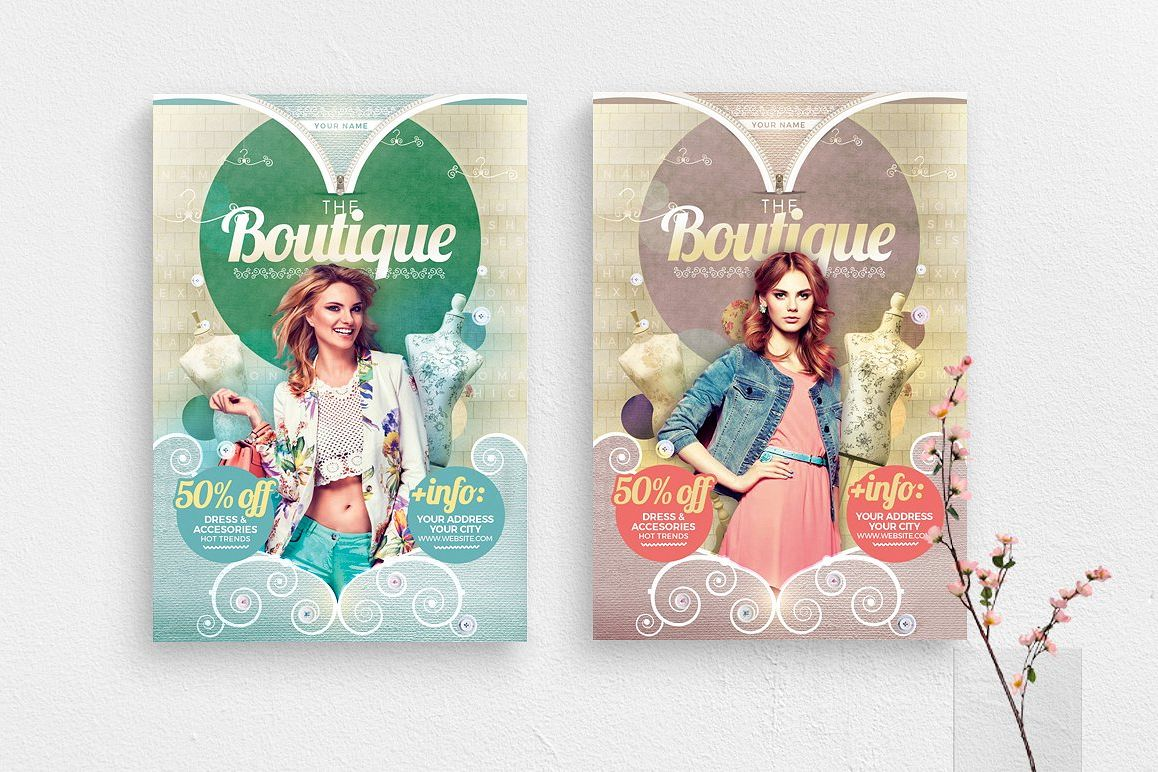 The Boutique Flyer Template example image 1