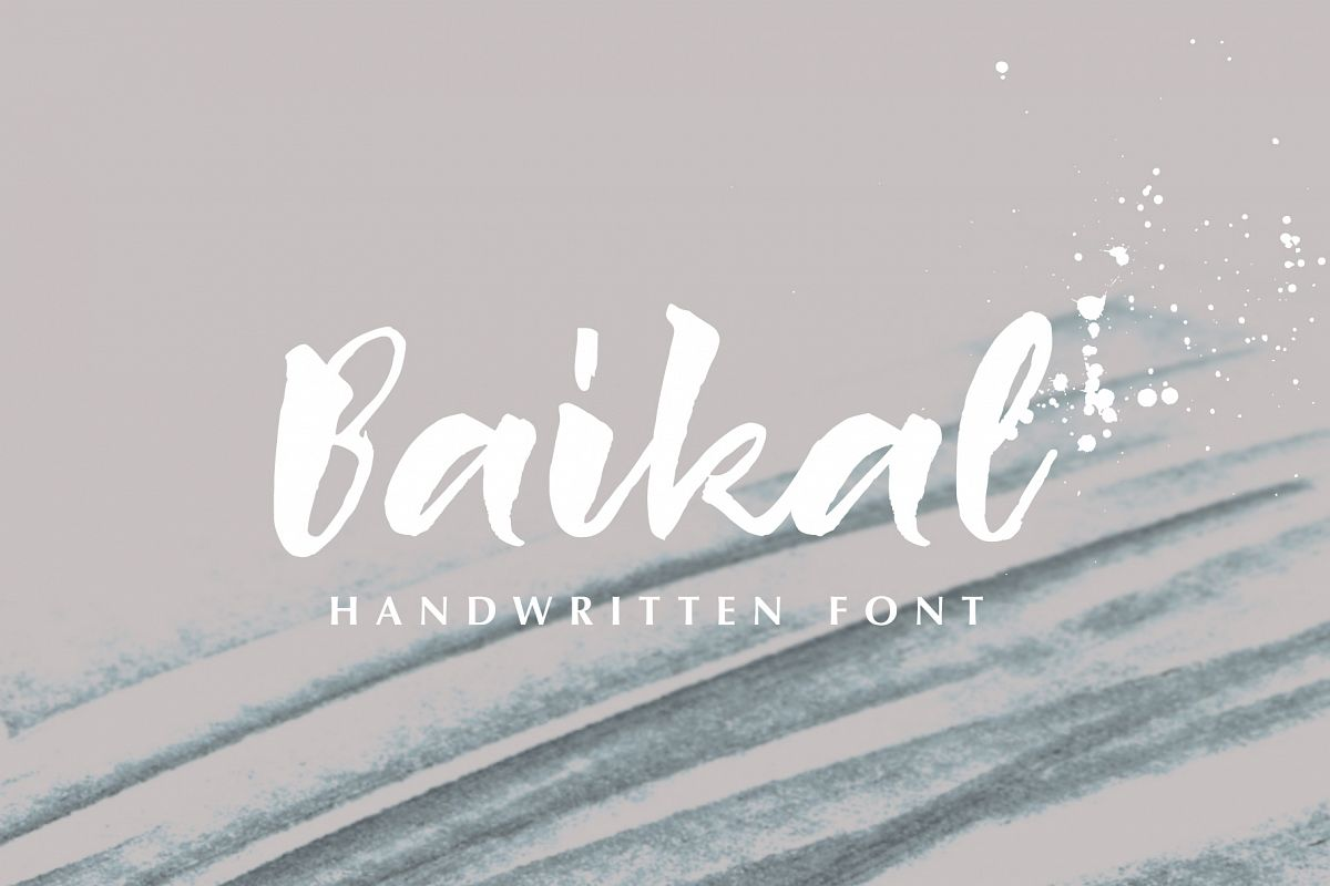 Baikal Handwritten Font with bonus example image 1