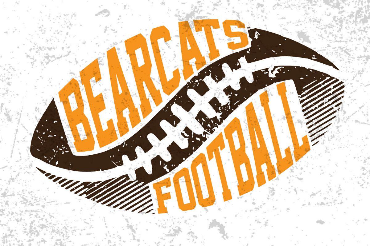 Football Svg ,Bearcats football ,Football design example image 1