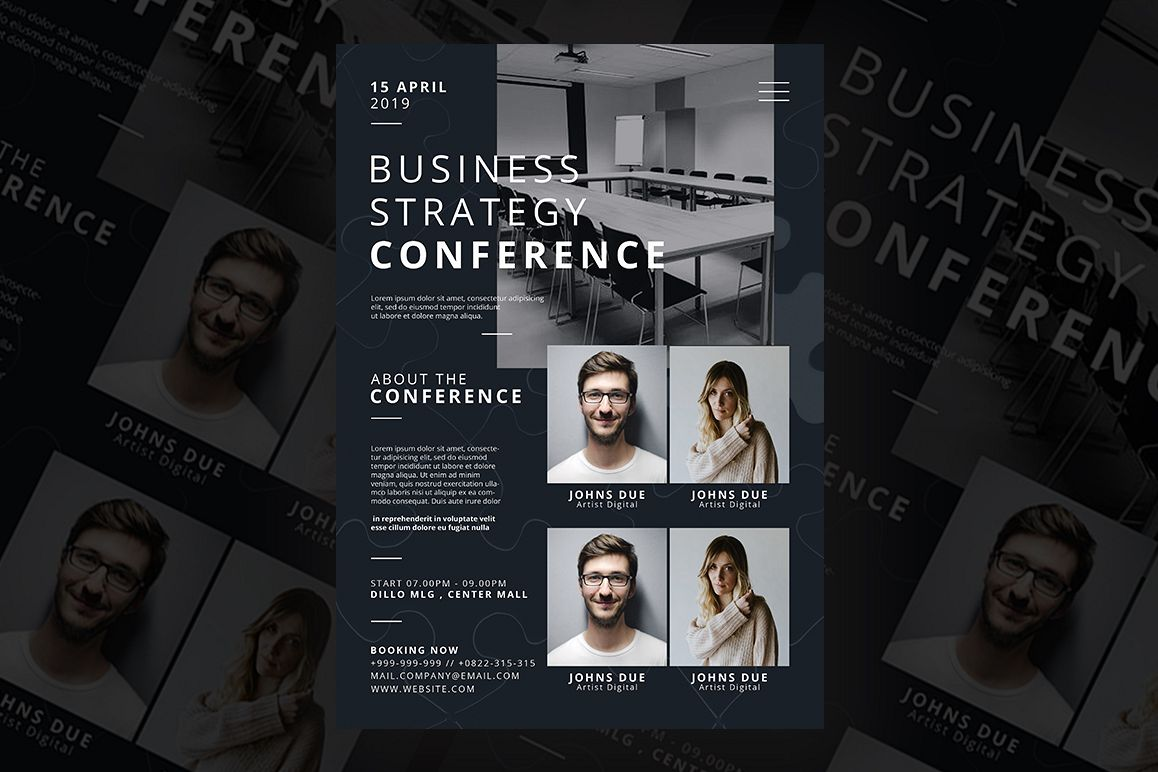 Business Strategy Conference flyer example image 1