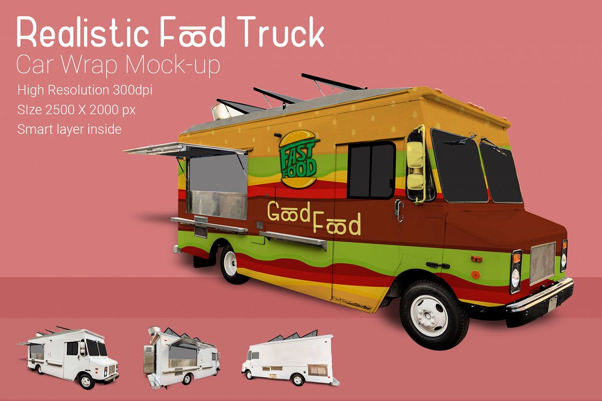 Food Truck Mock-Up example image 1