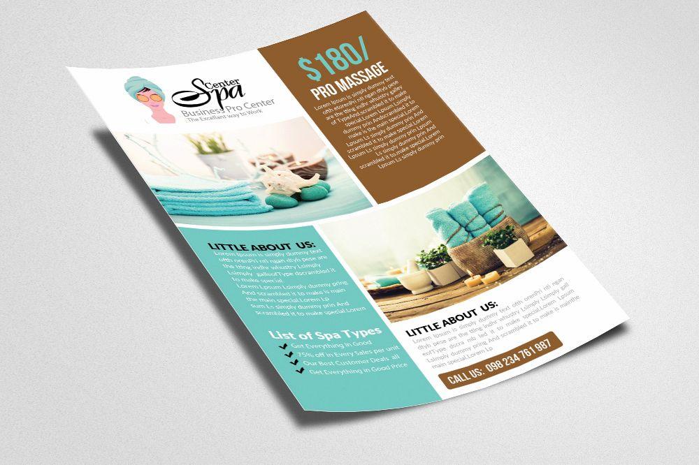 beauty salon spa flyer templates
