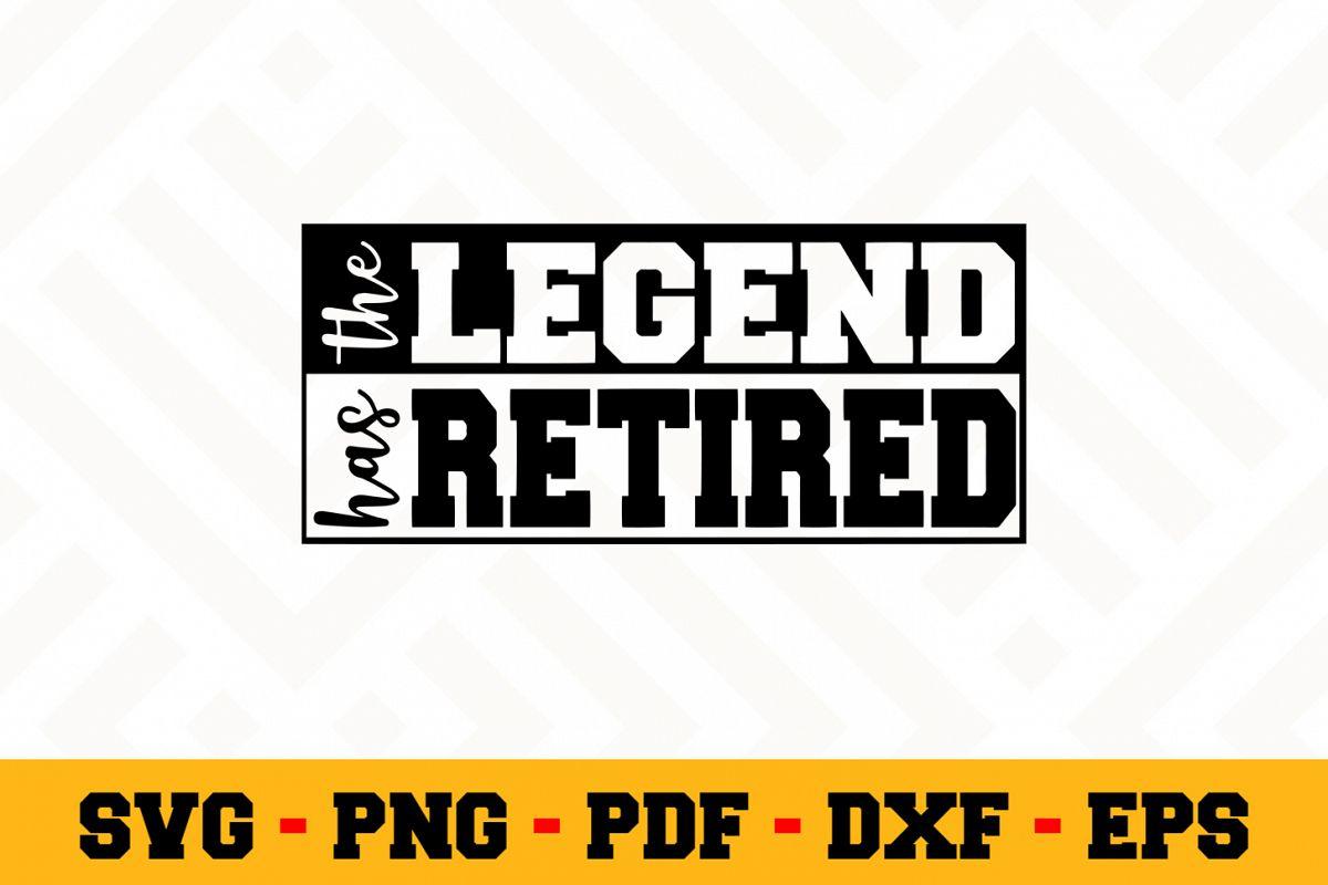 Retirement SVG Design n448   Retired SVG Retirement Cut File example image 1