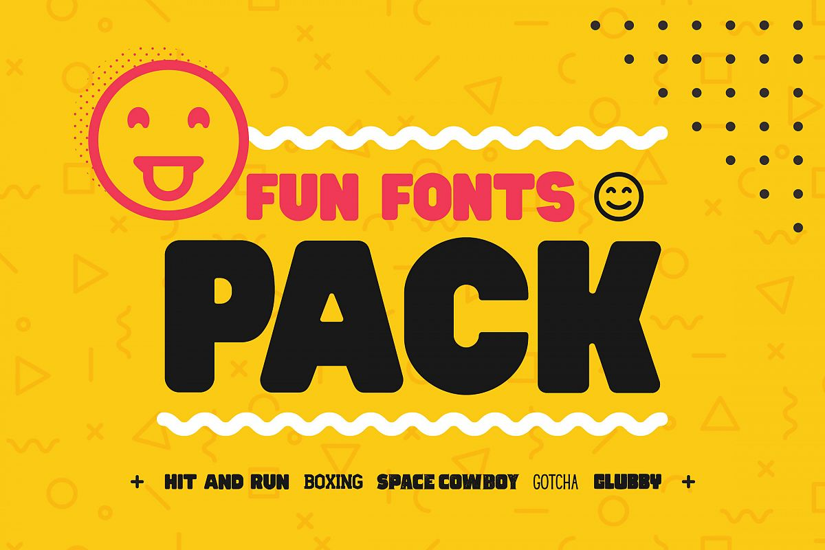 Fun Fonts Pack! - Bundle! example image 1