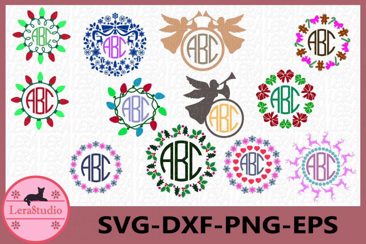 Merry Christmas SVG, Christmas Frame, Jesus svg, Christmas example image 1