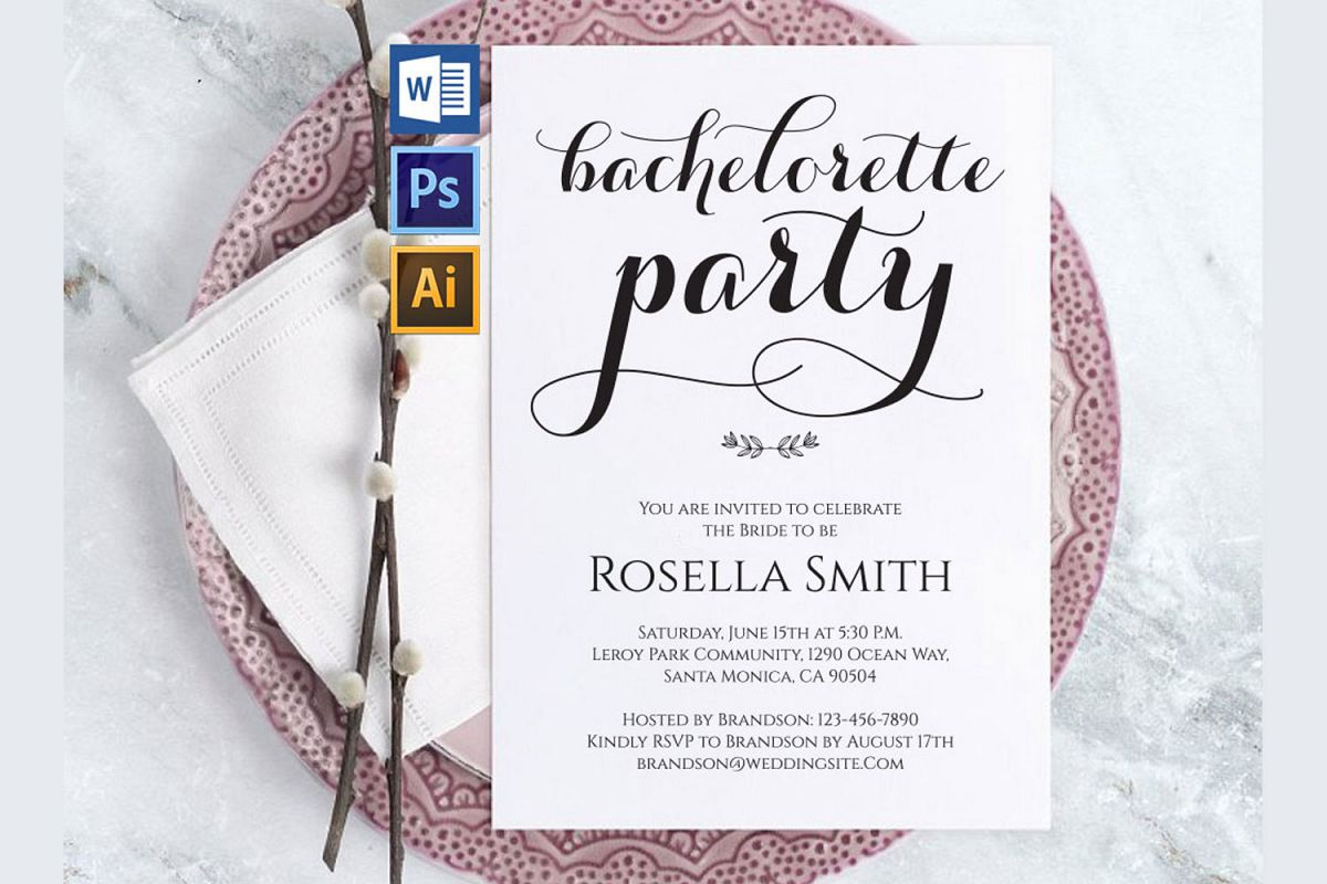 Bachelorette Party Invitations, TOS_50 example image 1