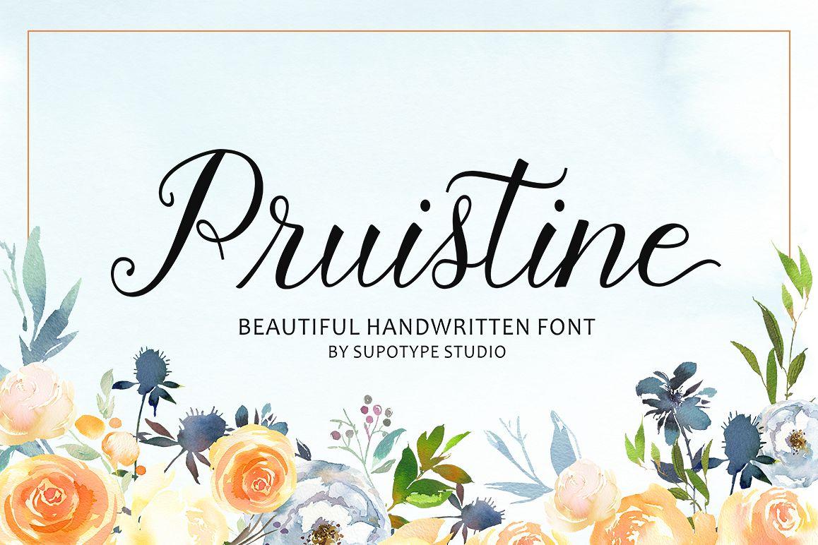 Pruistine Script example image 1