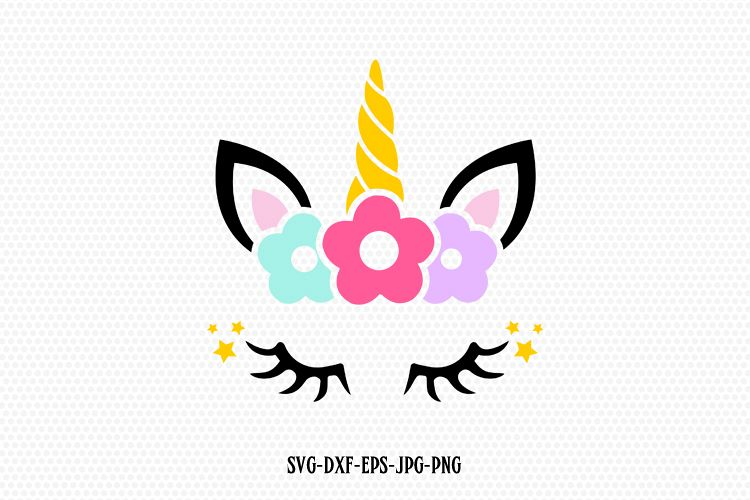 Unicorn Svg Unicorn Eyelashes Unicorn Birthday Svg