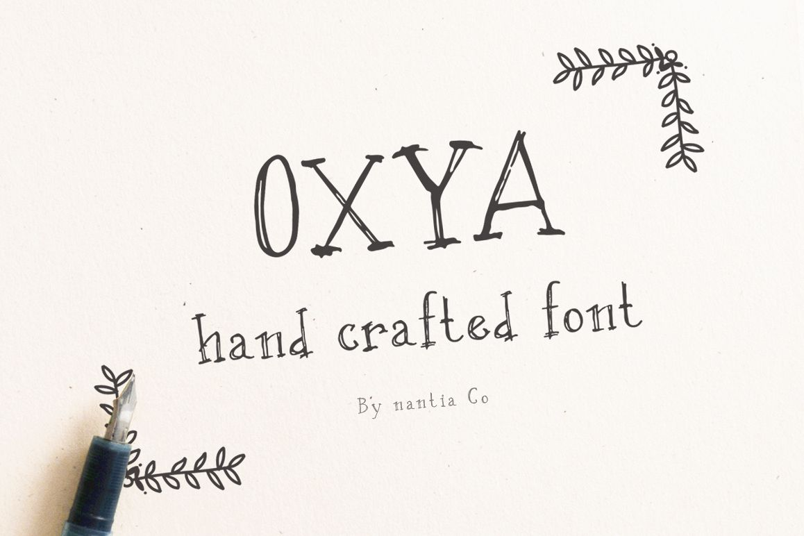 OXYA   Hand crafted Font example image 1