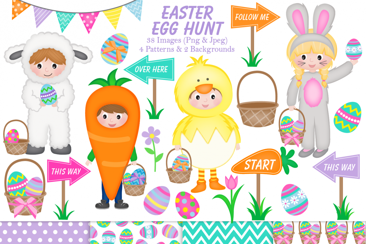 easter clipart graphics & illustrations - C32 example image 1