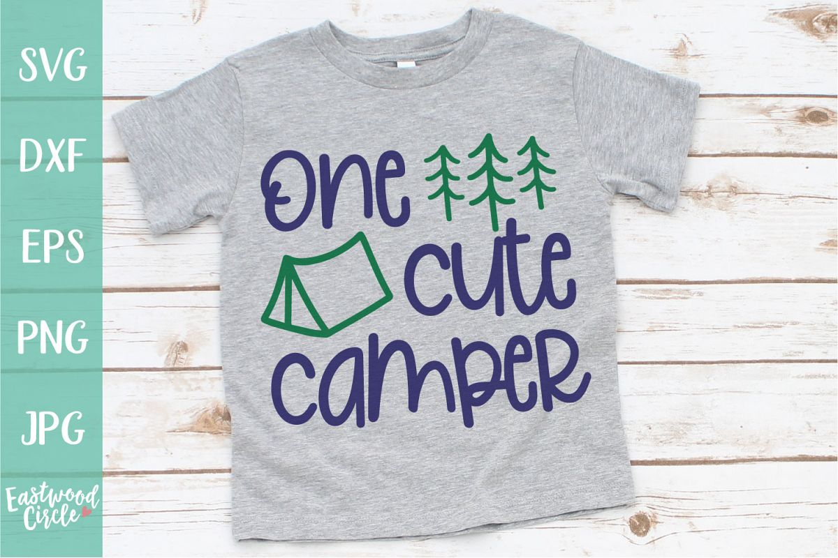 One Cute Camper - A Camping SVG example image 1
