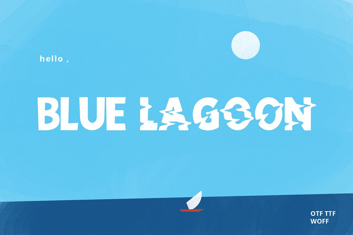 Blue Lagoon font example image 1