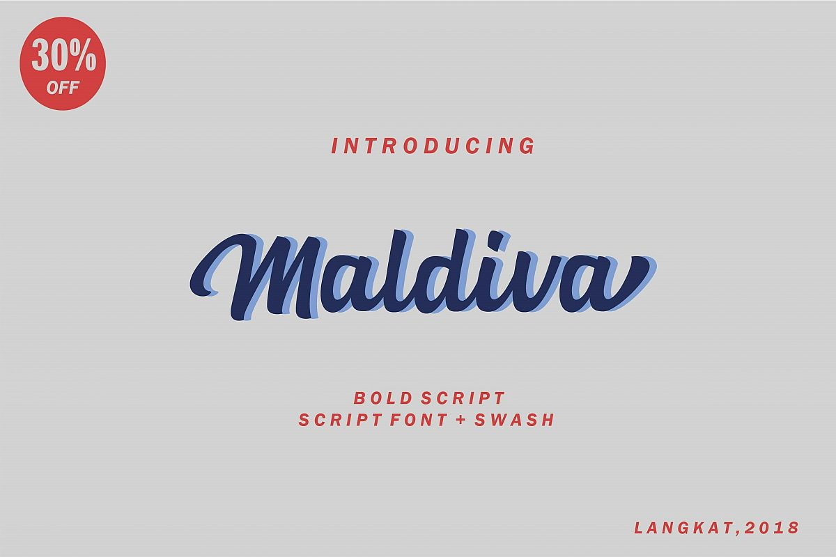 Maldiva Script example image 1