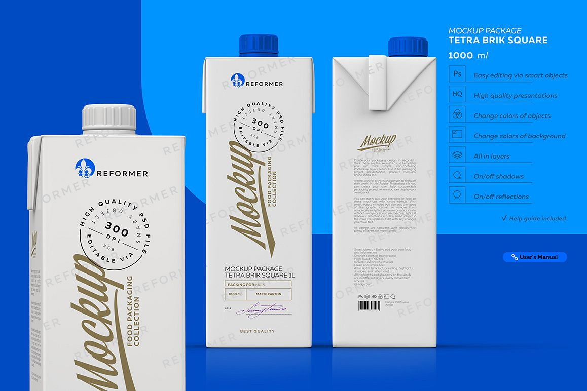 MILK PACKAGING POSTER  example image 1