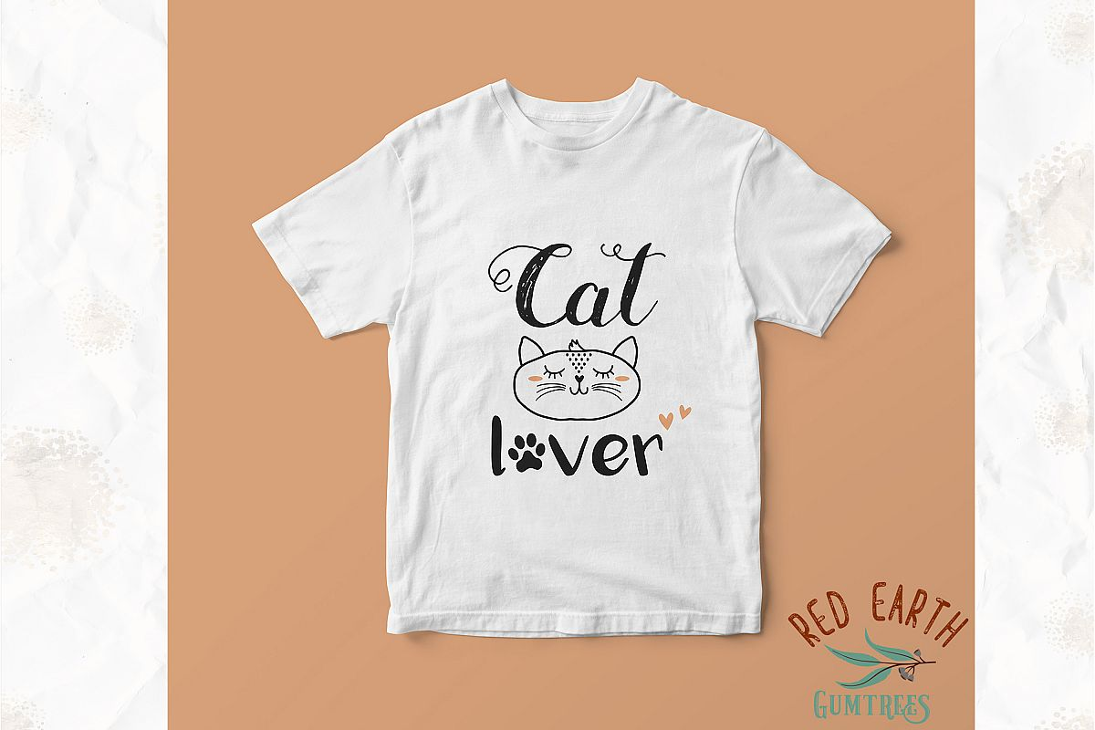 Cat lover, cat with lashes in SVG,DXF,PNG,EPS, PDF formats example image 1