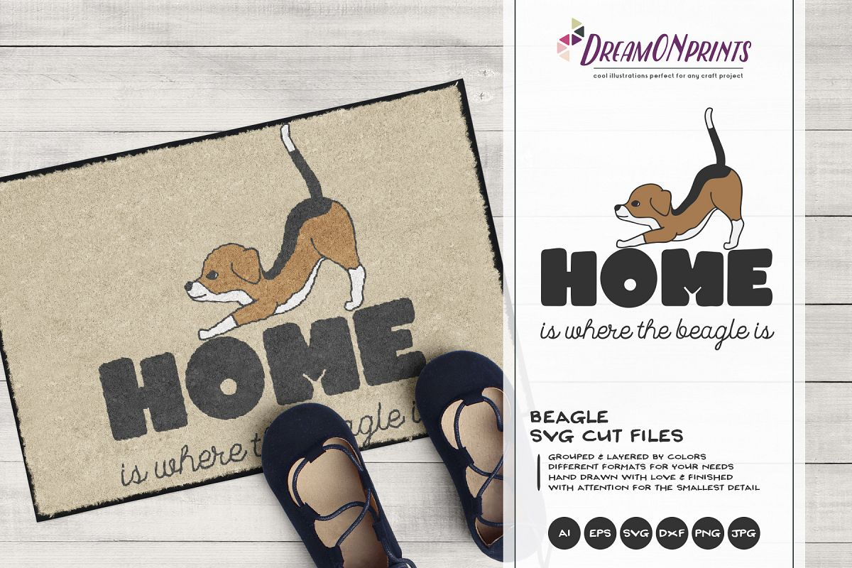 Beagle SVG - Home is Where theBeagle is example image 1