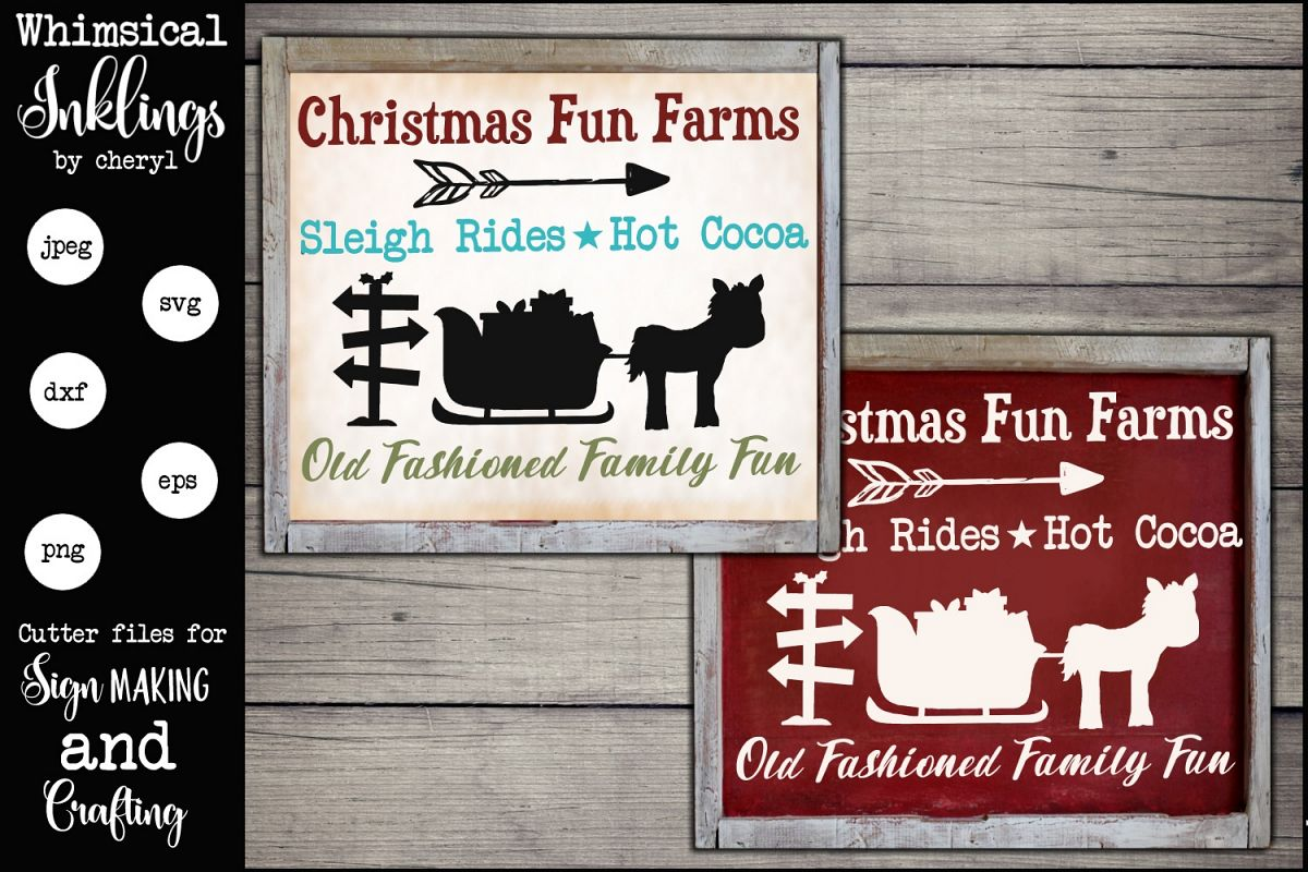 Christmas Fun Farms SVG example image 1