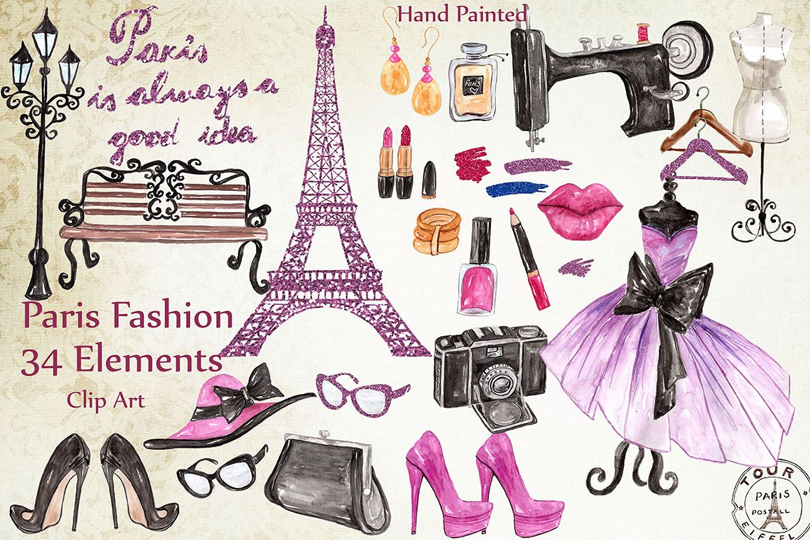 Paris fashion clipart example image 1