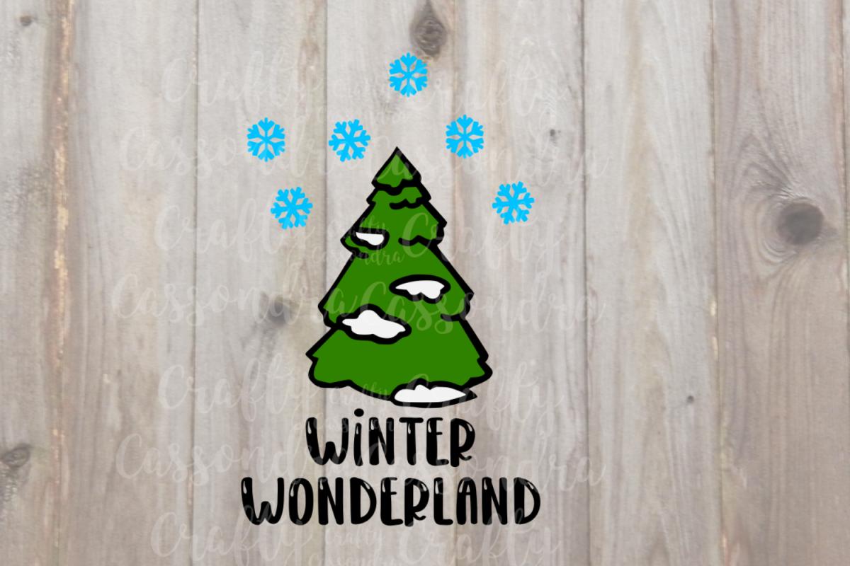 Winter Wonderland tree with snow example image 1