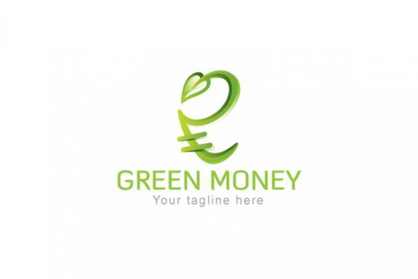 Green Money - Indian Rupee Icon Stock Logo example image 1