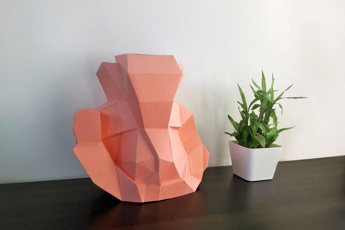 DIY Ganesha Sculpture - 3d papercraft example image 1