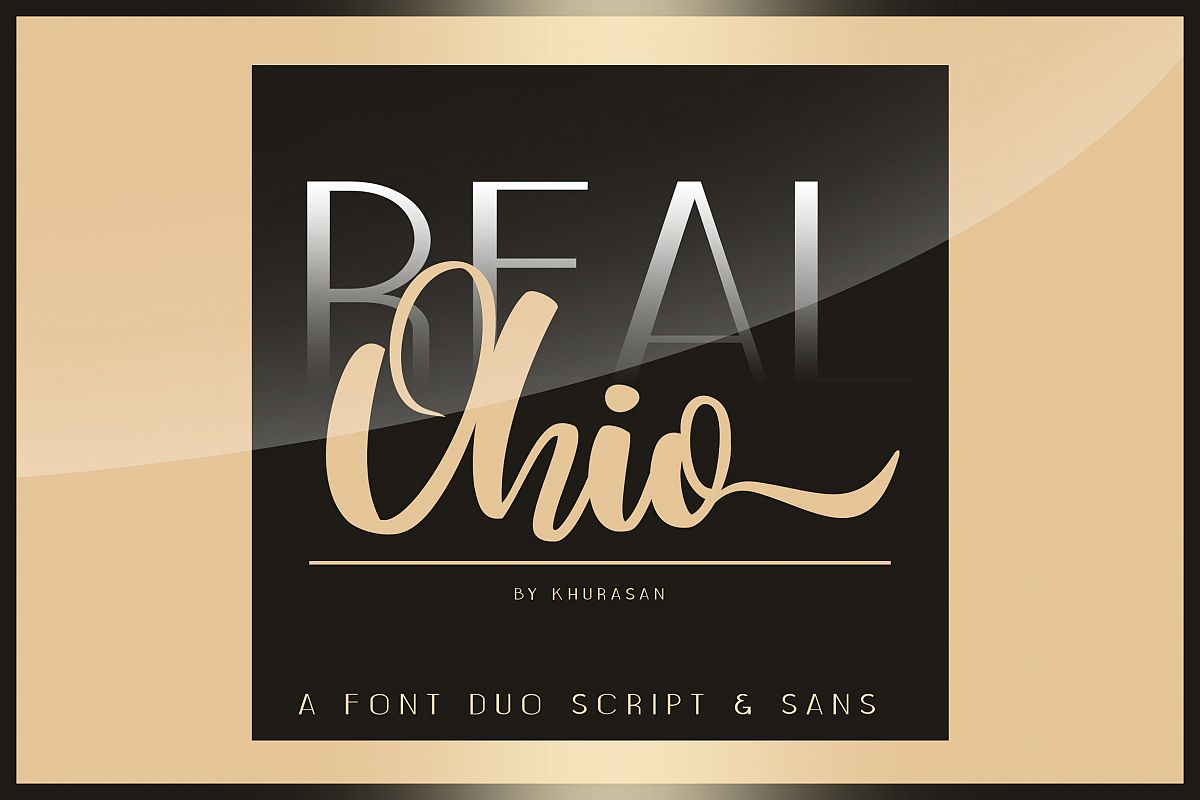 Real Ohio Font Duo example image 1