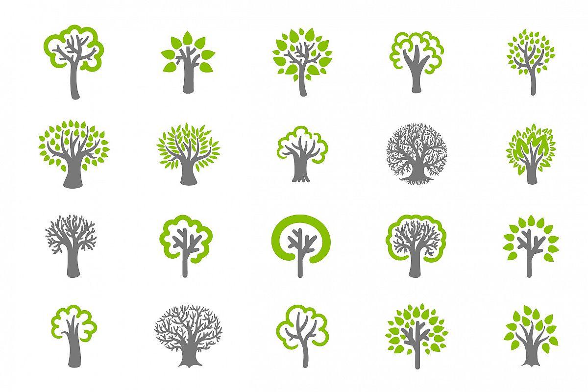 Tree icon set example image 1
