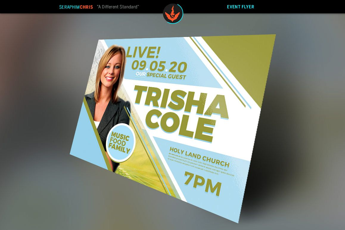 Special Guest Church Flyer Template Example Image 1