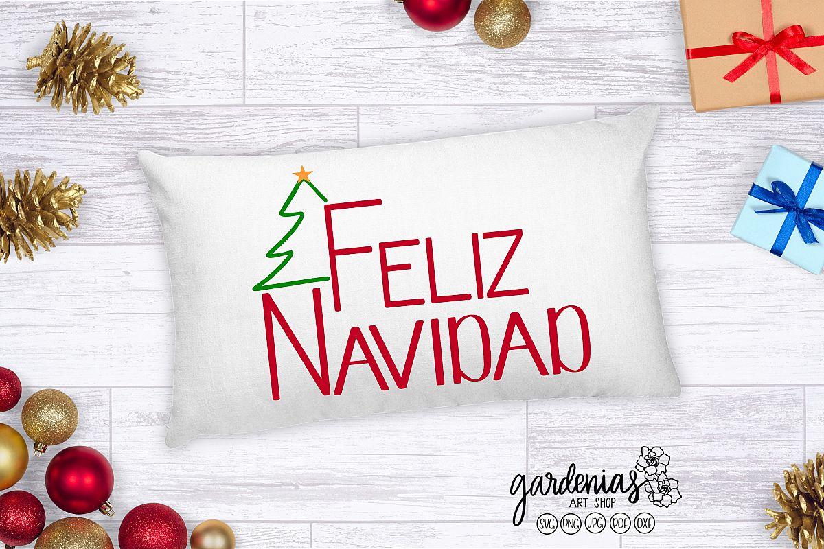 Feliz Navidad SVG   Navidad Cut File   Vector   Clip Art example image 1